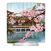 Vintage Japanese Art 12 Shower Curtain