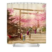 Vintage Japanese Art 25 Shower Curtain