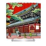 Vintage Japanese Art 4 Shower Curtain