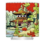 Vintage Japanese Art 7 Shower Curtain