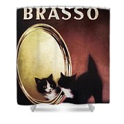 Vintage Kitty Cat Shower Curtain