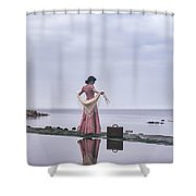 Vintage Lady Shower Curtain