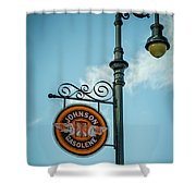 Vintage Lamp And Sign Shower Curtain
