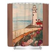 Vintage Lighthouse Shower Curtain