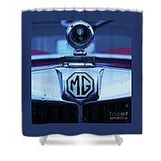 Vintage M G Emblem Shower Curtain