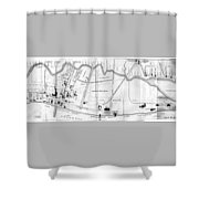 Vintage Map Of Coney Island  Shower Curtain