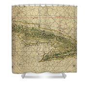 Vintage Map Of Cuba - 1639 Shower Curtain