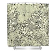 Vintage Map Of Geneva Switzerland - 1825 Shower Curtain