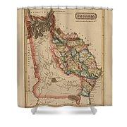 Antique Map Of Georgia Shower Curtain