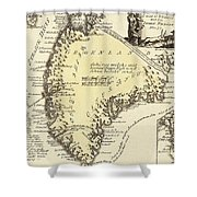 Vintage Map Of Greenland - 1791 Shower Curtain