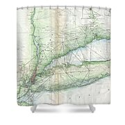 Vintage Map Of Long Island Ny Shower Curtain