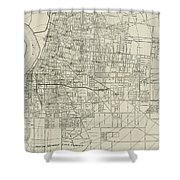 Vintage Map Of Memphis Tennessee - 1911 Shower Curtain