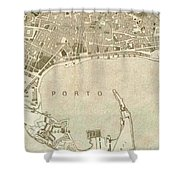 Vintage Map Of Messina Italy - 1900 Shower Curtain