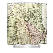 Vintage Map Of New Hampshire - 1796 Shower Curtain