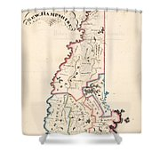 Vintage Map Of New Hampshire - 1819 Shower Curtain