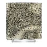 Vintage Map Of New York City - 1842 Shower Curtain