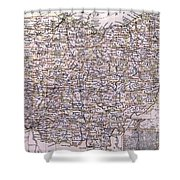 Vintage Map Of Ohio - 1884 Shower Curtain