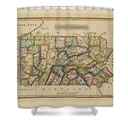 Antique Map Of Pennsylvania Shower Curtain