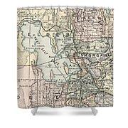 Vintage Map Of Salt Lake City - 1891 Shower Curtain