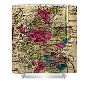 Vintage Map Of Scotland - 1808 Shower Curtain