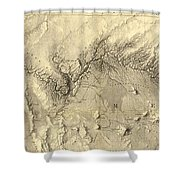 Vintage Map Of The Colorado River - 1858 Shower Curtain