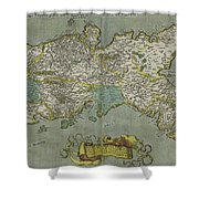 Vintage Map Of The Kingdom Of Naples - 1608 Shower Curtain