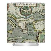 Vintage Map Of The Mediterranean Sea - 1608 Shower Curtain