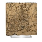 Vintage Map Of The New England Coast - 1771 Shower Curtain