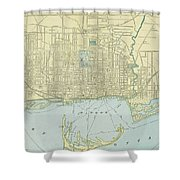 Vintage Map Of Toronto - 1901 Shower Curtain