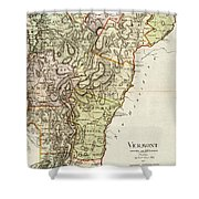 Vintage Map Of Vermont - 1797 Shower Curtain