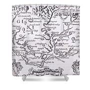 Vintage Map Of Virginia Shower Curtain