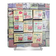 Vintage Matchbooks Shower Curtain