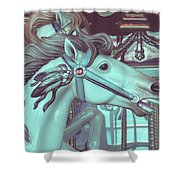 Vintage Merry-go-round Shower Curtain