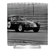Vintage Mg On Track Shower Curtain
