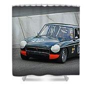 Vintage Mg Race Car Shower Curtain
