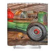 Vintage Midget Racer Shower Curtain