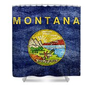 Vintage Montana Flag Shower Curtain