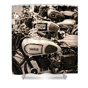 Vintage Motorcycles Shower Curtain