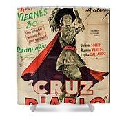 Vintage Movie Poster 7 Shower Curtain