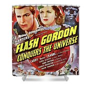 Vintage Movie Posters, Flash Godon Conquers The Universe Shower Curtain