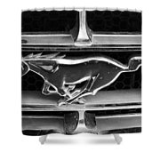 Vintage Mustang Logo Shower Curtain