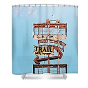 Vintage Neon Sign - The Spanish Trail - Tucson, Arizona Shower Curtain