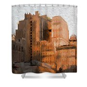 Vintage New York City Apartments Shower Curtain