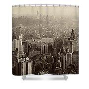 Vintage New York City Panorama Shower Curtain