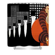 Vintage New York Glamour Art Deco Shower Curtain