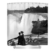 Vintage Niagara Falls - View From Goat Island - 1908 Shower Curtain