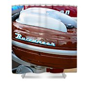 Vintage Outboard 2 Shower Curtain
