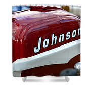 Vintage Johnson Outboard Red  Shower Curtain