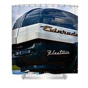 Vintage Evenrude Outboard  Shower Curtain