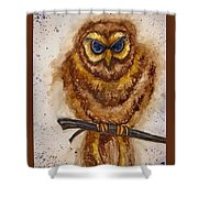 Vintage Owl Shower Curtain